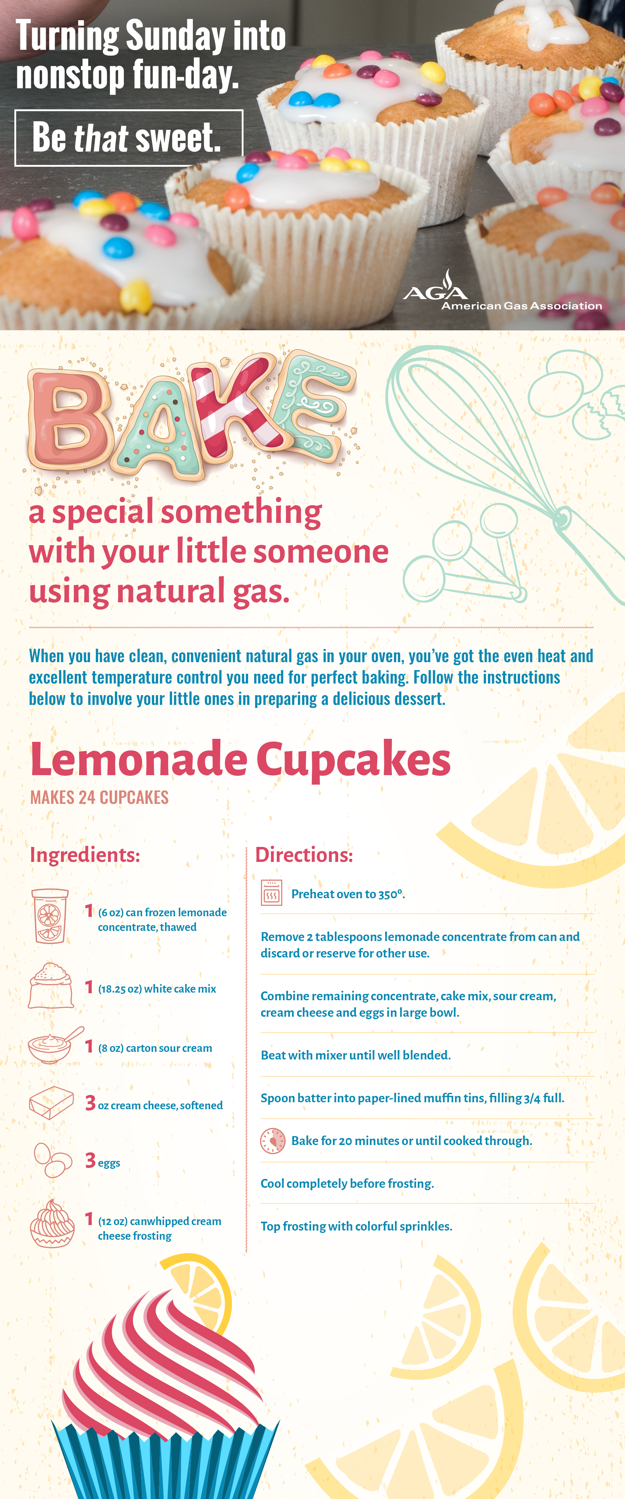Bake a special something with your little someone using natural gas